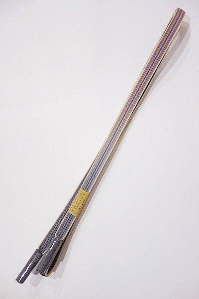 銀座【G-998-4】京都 衿秀製 帯締め 畝打組 薄花色×鳩羽色(新品)