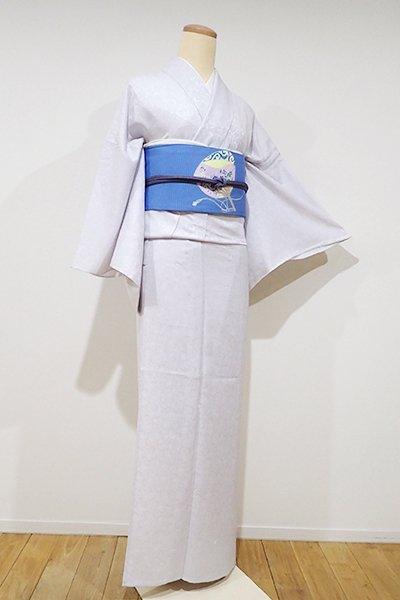 WEB限定【D-1945】紋紗 小紋 白菫色 源氏香の図(しつけ付・新品)