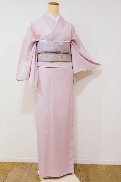 銀座【C-1374】絽 江戸小紋 薄桜色 鮫 (しつけ付)
