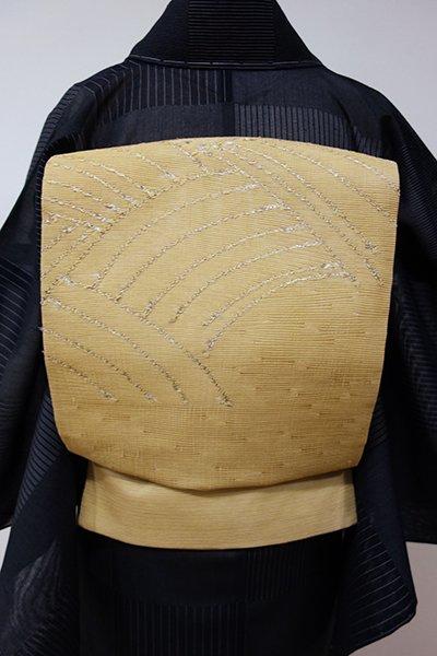WEB限定【K-5251】絽 織名古屋帯 桑染色 波文