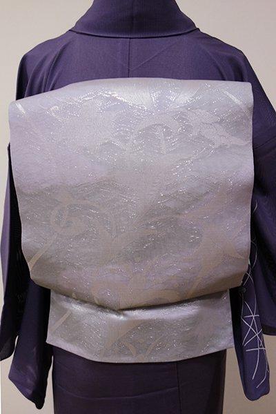 WEB限定【L-3718】紗 袋帯 暁鼠色 唐花の図
