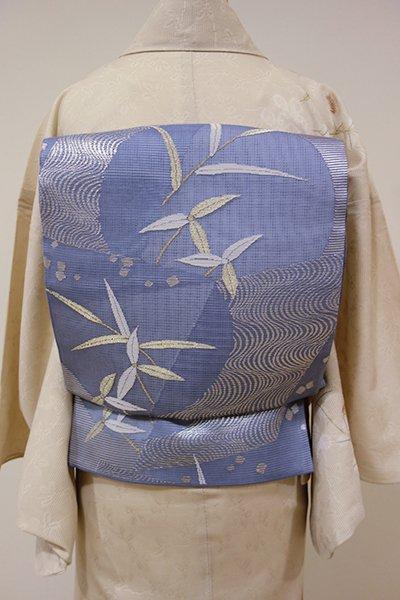 WEB限定【L-3721】夏 袋帯 薄花色 流水に葦の図