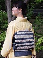 銀座【帯2673】西陣 河合康幸製 絽唐織袋帯 (西陣証紙付)