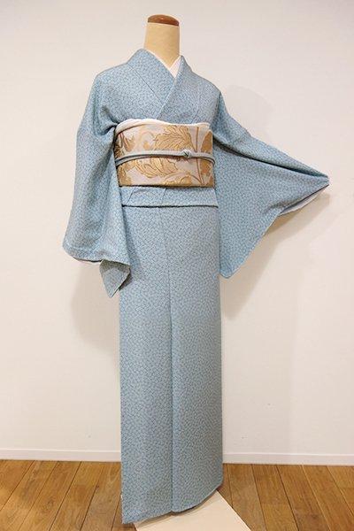 銀座【C-1398】江戸小紋 錆青磁色 梅鉢(しつけ付・新品)