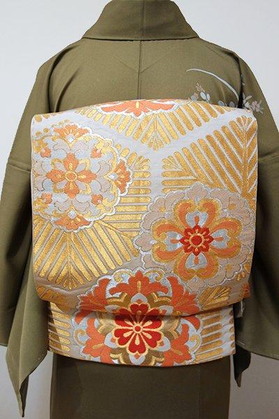 WEB限定【L-3771】西陣 川島織物製 袋帯 金色 華文(落款入り)