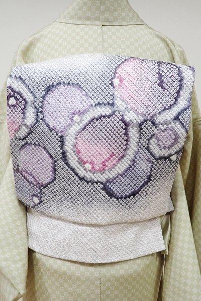 世田谷【K-5362】藤娘 きぬたや製 名古屋帯 淡い紫水晶色 抽象文