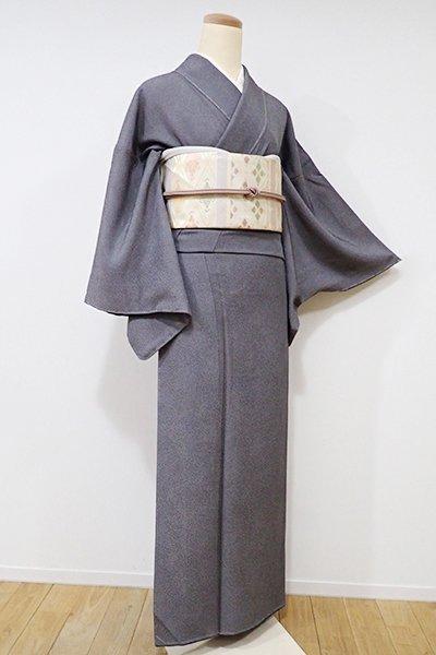 銀座【C-1411】縮緬地 江戸小紋 深い黒紅色 鮫文