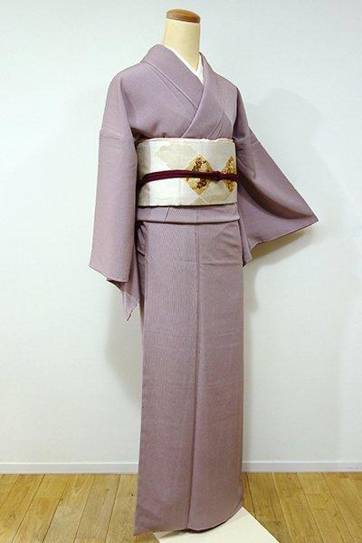 銀座【C-1414】江戸小紋 蘇芳香色 万筋(しつけ付)