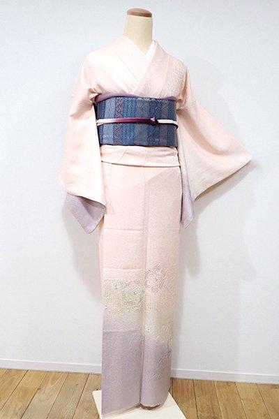銀座【B-1940】↑Sサイズ↓スワトウ刺繍 付下げ 赤香色 華文