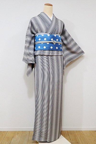 銀座【D-2002】↑Sサイズ↓小紋 黒色×白色 滝縞
