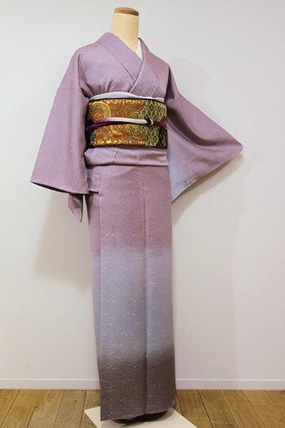 銀座【B-1947】→ホッソリ←付下げ 梅鼠色×灰青色×鳩羽鼠色 裾暈かし(しつけ付)