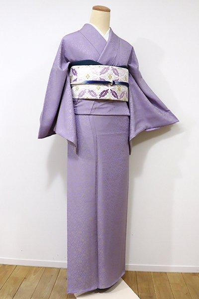 銀座【A-2548】←ユッタリ→御召 紫苑色 牡丹唐草文