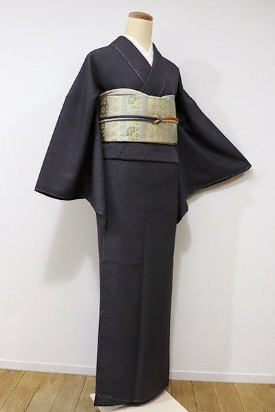 銀座【C-1440】江戸小紋 黒色 鮫(しつけ付・新品)