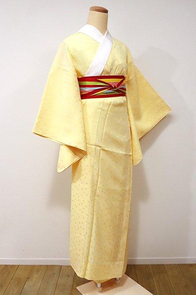 銀座【F-336】長襦袢 淡黄色 桜の花弁