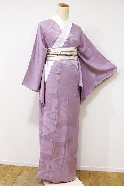 WEB限定【F-345】長襦袢 浅紫色 鶴の図