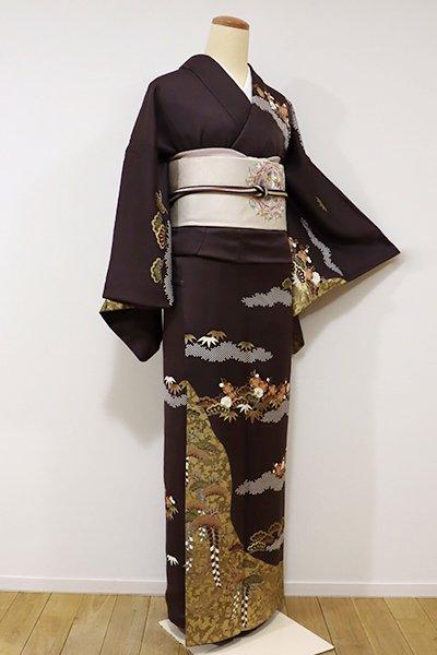 銀座【B-1969】訪問着 濃色 松竹梅の図