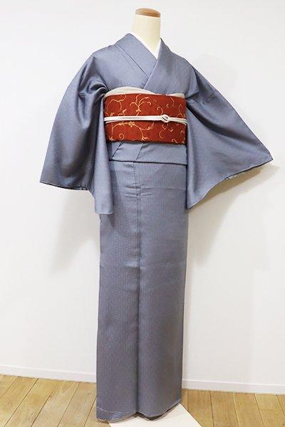 銀座【C-1449】(広め)色無地 灰青色