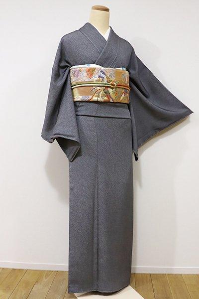銀座【C-1453】江戸小紋 黒色 鮫(しつけ付)