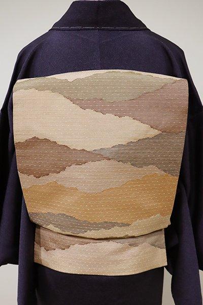 あおき【K-5506】織成織 名古屋帯 伽羅色 抽象文