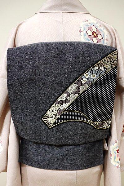 あおき【L-3989】洒落袋帯 黒色 鬘帯の図