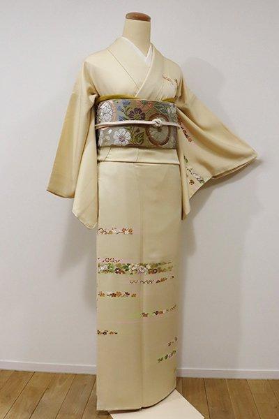 銀座【B-1976】訪問着 砥粉色 霞に四季花の図(しつけ付)