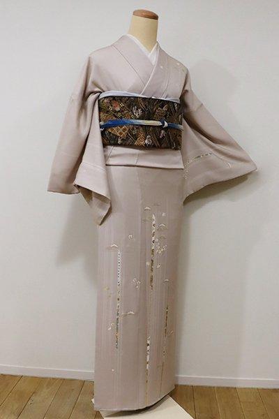 銀座【B-1978】繍一ッ紋 訪問着 淡い白茶色 松や梅など