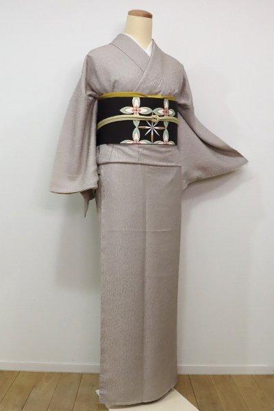 銀座【C-1471】江戸小紋 白茶色 万筋