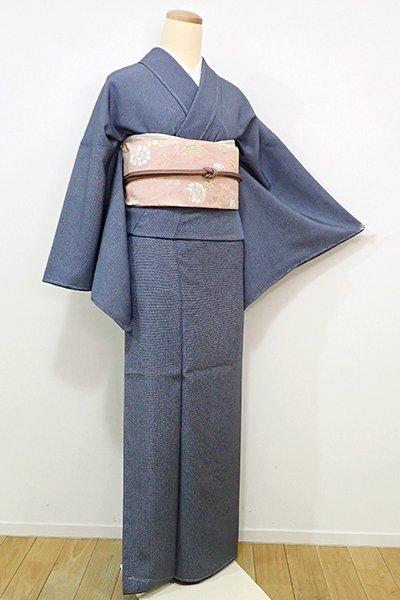 銀座【C-1472】江戸小紋 藍鉄色 角通し(しつけ付・新品)