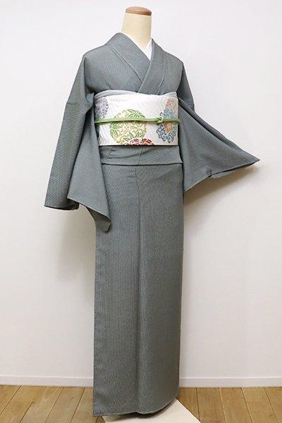 銀座【C-1473】江戸小紋 青鈍色 万筋(しつけ付・新品)