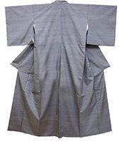 【着物2297】新田工房製 真綿手引紬「花暦」(反端証紙付・しつけ付)