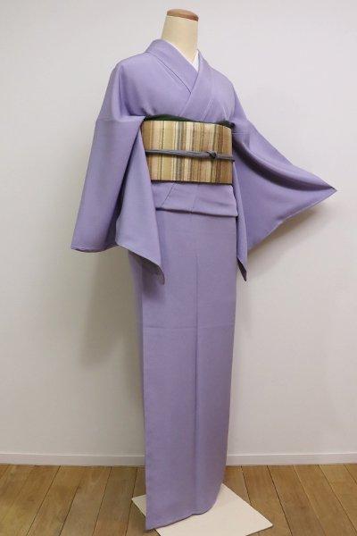 銀座【C-1475】江戸小紋 藤紫色 鮫(しつけ付・新品)
