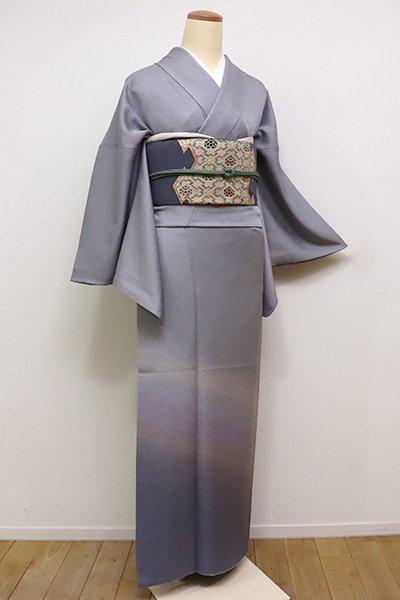 銀座【B-1998】付下げ 灰色×藤色 裾暈かし