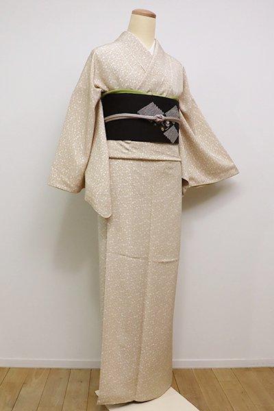 銀座【C-1481】江戸小紋 枯色 葵文(しつけ付・新品)
