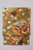 【帯2821】西陣 河合美術織物製 袋帯 (未使用)