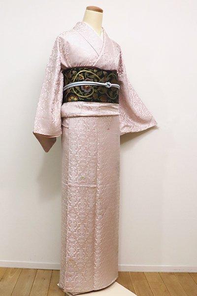 銀座【D-2057】→ホッソリ←小紋 明るい灰桜色 欧風装飾文