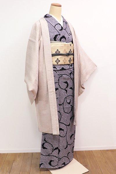 銀座【E-923】羽織 練色 名物裂の地紋(しつけ付)
