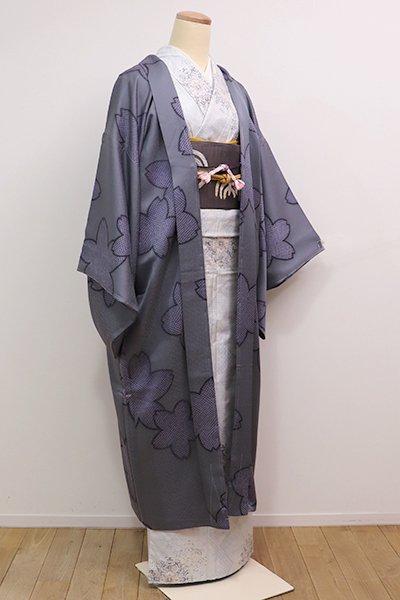 銀座【E-926】斉藤三才 羽織 桜の図(羽織紐付)