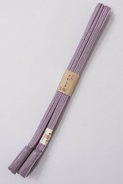 【G-1065】京都 衿秀製 帯締め 冠組 薄色(新品)