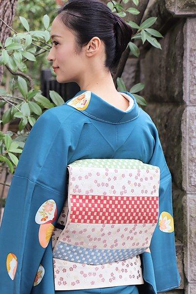 【帯2837】たつむら製 本袋帯「元禄花見錦」