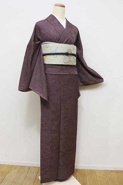 WEB限定【C-1490】(L) 内田秀一作 江戸小紋 紫鳶色 行儀(松屋扱い・反端付)
