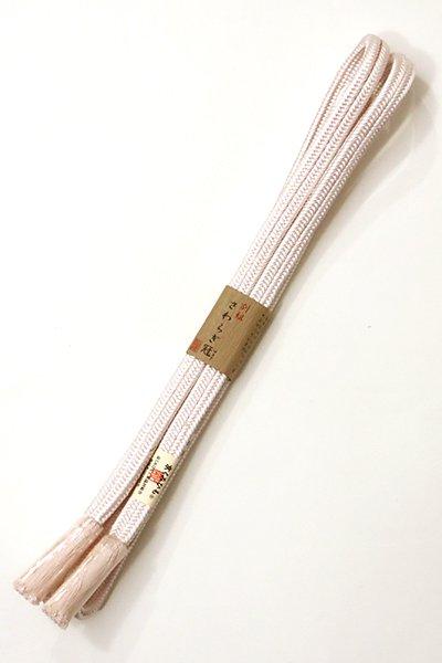 あおき【G-1075】京都 衿秀製 帯締め 冠組 桜色(新品)