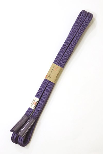 あおき【G-1080】京都 衿秀製 帯締め 冠組 菫色(新品)