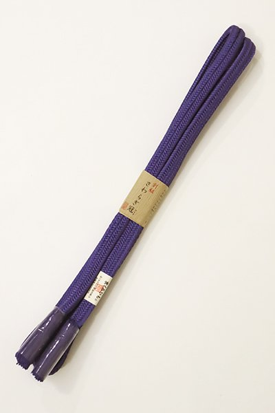 あおき【G-1081】京都 衿秀製 帯締め 冠組 桔梗色(新品)