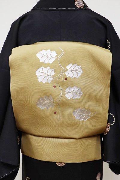 WEB限定【K-5692】塩瀬 染名古屋帯 枯色 柊の図