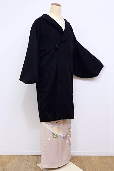 銀座【E-941】カシミヤ 和装コート 黒色 無地
