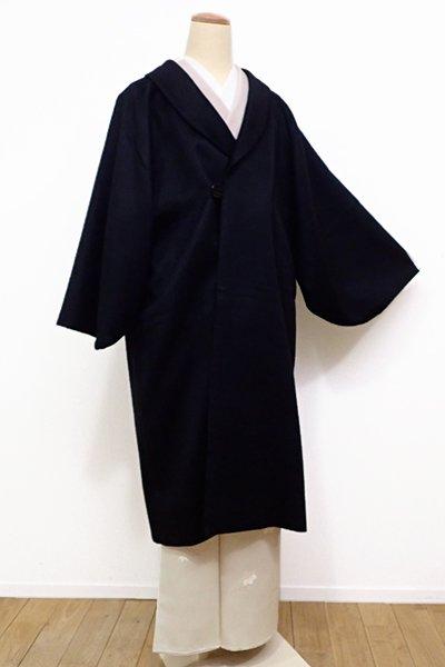 銀座【E-944】カシミヤ 和装コート 黒色 無地