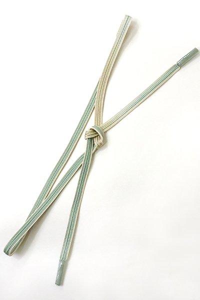 銀座【G-1039】京都 衿秀製 帯締め 畝打組 青白橡色 暈かし(新品)
