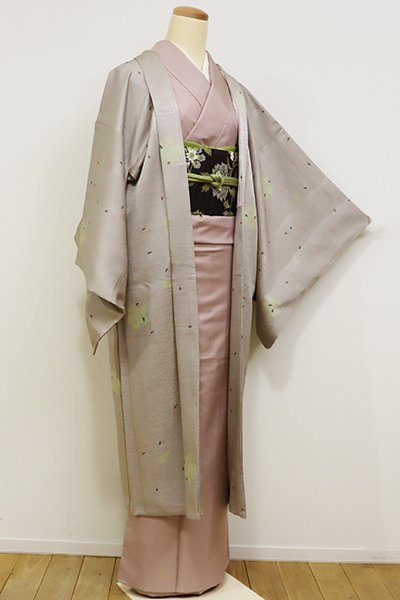 銀座【E-947】羽織 潤色 桜の図(しつけ付)
