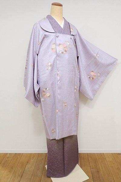 銀座【E-956】道行コート 白藤色 花の丸文