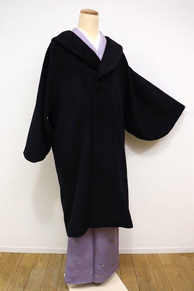 銀座【E-970】和装コート 黒色 無地 (新品)
